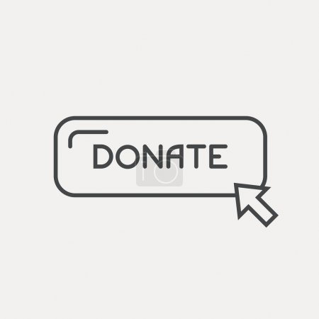 Label donate with pointer