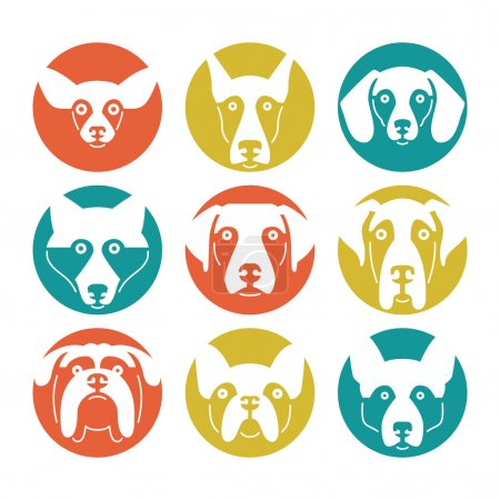 Set of logotypes with dogs