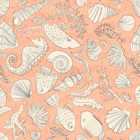 Ocean seamless pattern