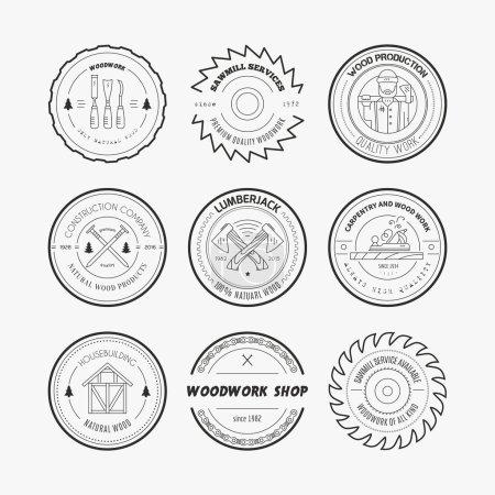Lumberjack Logos set