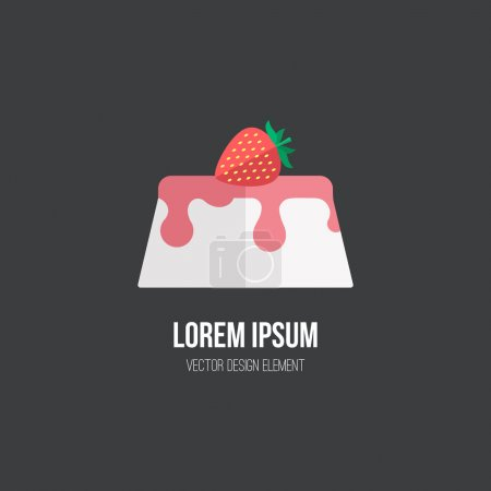 Panna cotta design element