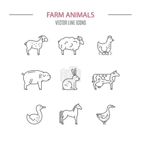 logos set with farm animals