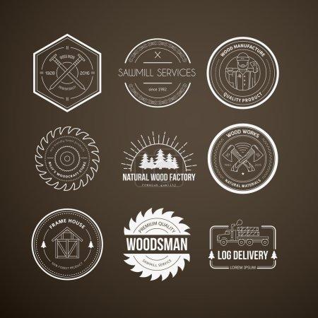 vintage carpentry logotypes