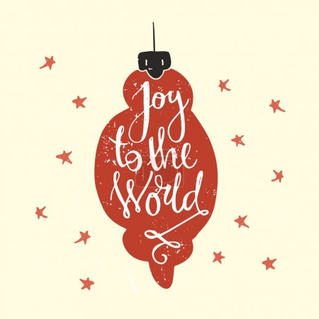 Joy to the world - handdrawn lettering.