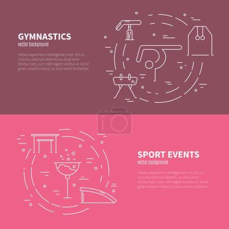 Gymnastics Conceptual banners
