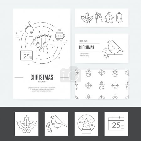 Christmas templates for  greeting cards