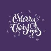 Merry Christmas lettering
