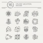 Cruise vacation  icons