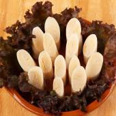 Heart of palm (palmito) on plate