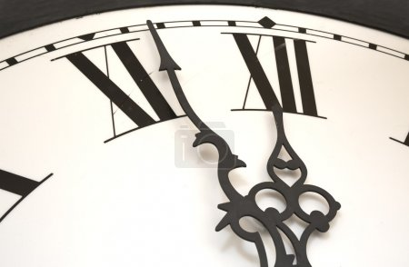 Clock at almost midnight