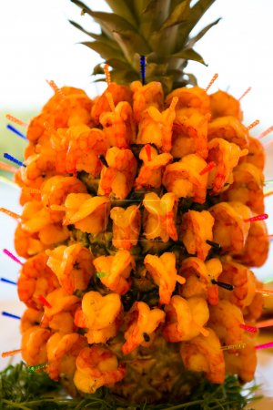 pineapple made from shrimp