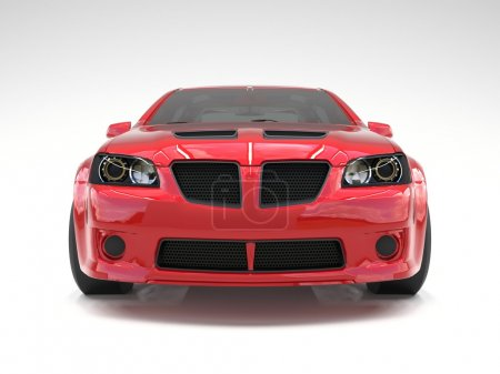 Photo for Sports car front view. The image of a sports red car on a white background - Royalty Free Image