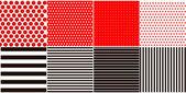 Vintage Polka Dots and stripes