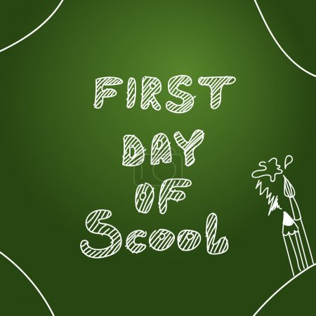 Vector background. First day of scool background vector illustration.