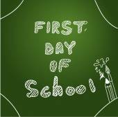 First day of school Start of  new school year Eps 10 vector file