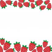 background of fresh strawberries in flat style Design template for vegetarian food and restaurant menu