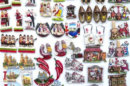 Foto de Algunas filas de diversión souvenirs imán de Bulgari - Imagen libre de derechos