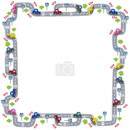 Frame with road