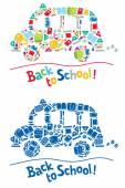 Vissza az iskolába tervezősablon