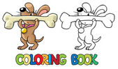 Doggy-athlete lifts the bar Coloring book