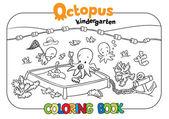 Libro da colorare di polpo asilo