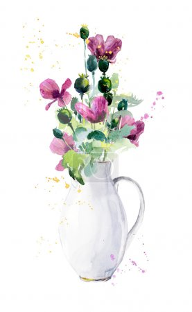 Flowers in a jug.