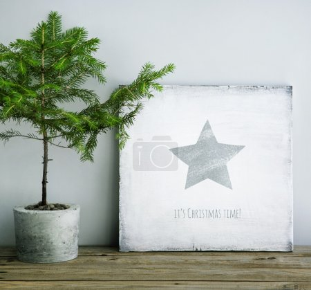 Christmas wooden poster