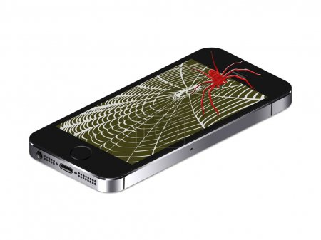 Mobile phone spider
