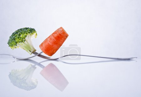 Broccoli and carrot composition