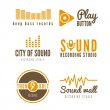 Set of logo and logotype elements for recording st...