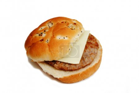 A Fast Food Sausage Sandwich Ready to Eat