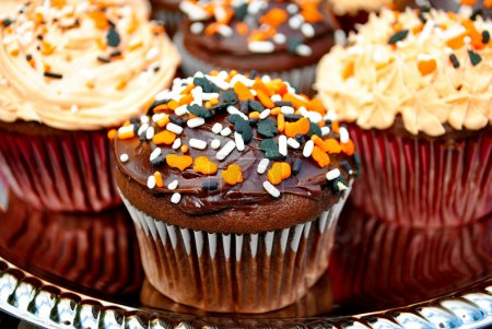 Chocolate Frosted Halloween Cupcakes