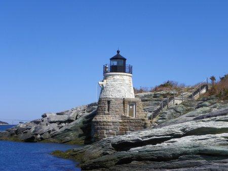 Foto de Colina del castillo faro, Rhode Island, Estados Unidos - Imagen libre de derechos