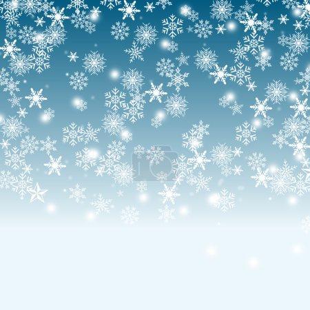 Photo pour Ciel et fond de neige - image libre de droit