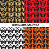 Background Vector-4 Seamless Cat Patterns
