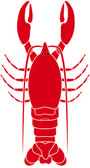 Lobster Icon Isolated Over a White Background