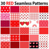 30 Red Seamless Patterns