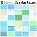30 Baby Boy Seamless Patterns...