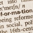 Definition of word rerformation in dictionary...