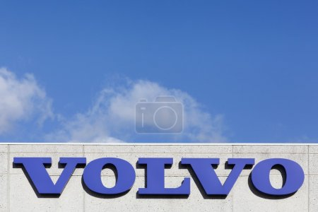 Volkswagen logo on a facade