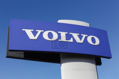 Volvo sign on a panel