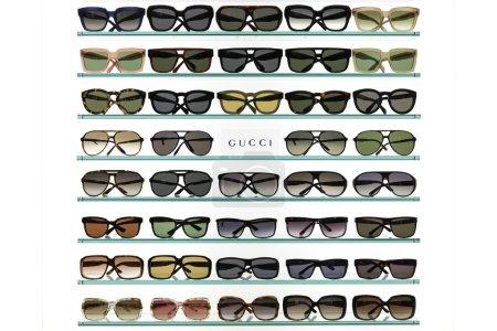 Gucci sunglasses in a store