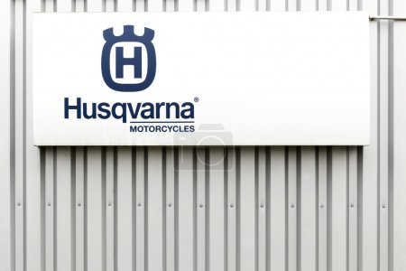 Husqvarna motorcycles logo on a
