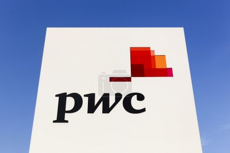 PWC logo on a panel