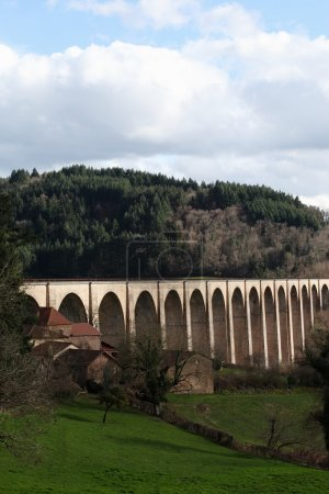 Viaduct of Mussy-sous-Dun in Burgundy,