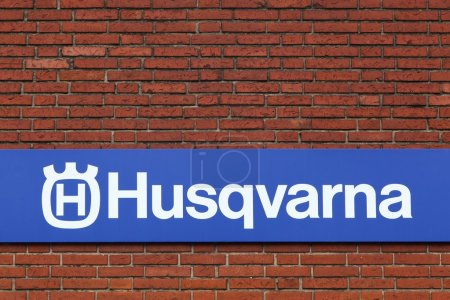 Husqvarna logo on a facade