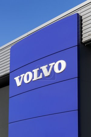 Volvo logo on a wall