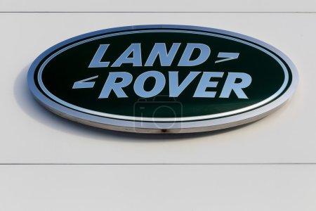 Land Rover logo on a facade