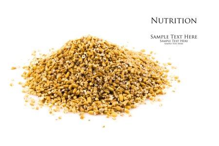 Photo pour Close up view of a fresh pile of uncooked steel cut oats. - image libre de droit