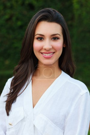 Photo for Beautiful multicultural young woman outdoor portrait. - Royalty Free Image